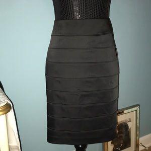 Apt. 9 black striped poly rayon blend pencil skirt